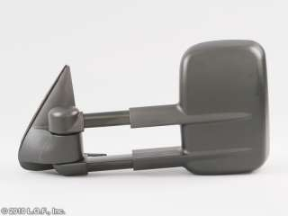 Passenger RH Right Heat Black Power Tow Towing Trailer Mirror