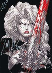 2010 5Finity Lady Death Sketch Auto 16/50 Promo Mhoponhop