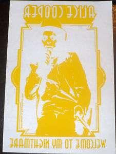 Vintage ALICE COOPER T SHIRT IRON ON ALICE COOPER Rock