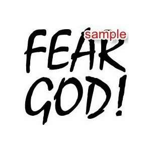 CHRISTIAN FEAR GOD WHITE VINYL DECAL STICKER Everything