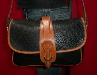 Vintage DOONEY & BOURKE Navy Blue Leather Satchel Cross Body Messenger