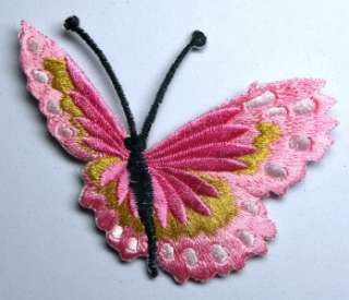 BLUE FLYING 3 BUTTERFLY IRON ON PATCH EMBROIDERED I139