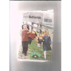 Patch Kids Doll 16 & 20 Butterick 3954 Sewing Pattern ; Matching