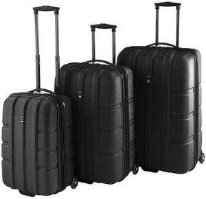 Heys Travel Concepts FORGE Expandble Luggage Set BLACK 806126021161