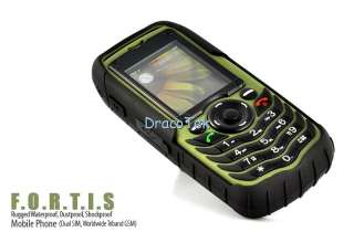 Fortis A88 Rugged IP67 grade outdoors cell phone dual SIM waterproof