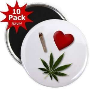 Creative Clam I Heart Weed Marijuana Pot Leaf 10 pack Of 2