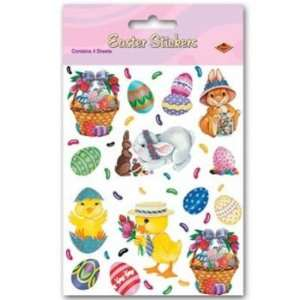 Easter Bunny, Basket & Egg Stickers 4 Sheets Per Pack Toys & Games