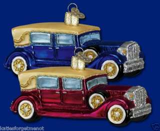 BLUE VIN. AUTO CAR OLD WORLD CHRISTMAS ORNAMENT 46010