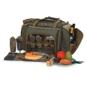 Shoulder Duffel Bag Picnic Set for 4 With Ultimate Accessories