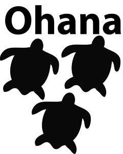 Sea Turtles Ohana Logo Decal Sticker