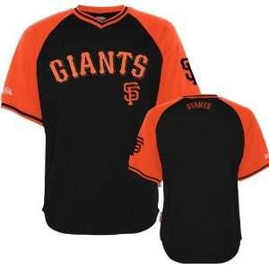 San Francisco Giants Youth Black/Orange Stitches V Neck