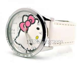 Hello Kitty Toy Watch Crystal Wristwatch New JW357