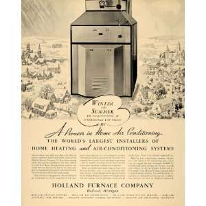 1936 Ad Holland Furnace Heating System Air Conditioning
