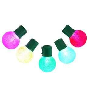 Vickerman 25759   10 Light Sugared Multi Color G30 Christmas Light