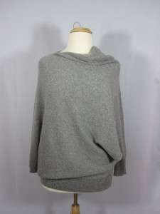 GARNET HILL NWT 100% Cashmere Asymmetrical Pullover Sweater GRAY