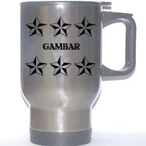 Personal Name Gift   GAMBAR Stainless Steel Mug (black