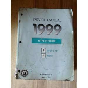 Service Manual 1999 Pontiac Grand Am & Oldsmobile Alero (N