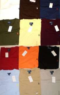 NWT Mens Polo Ralph Lauren SS V Neck T Shirt Tee