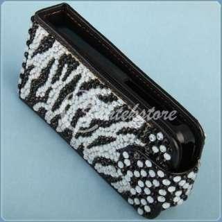 for Nokia C3 00 Bling Rhinestone Cover Case Zebra Black
