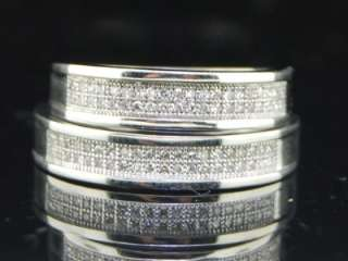 WHITE GOLD FINISH DIAMOND ENGAGEMENT RING WEDDING BAND DUO SET