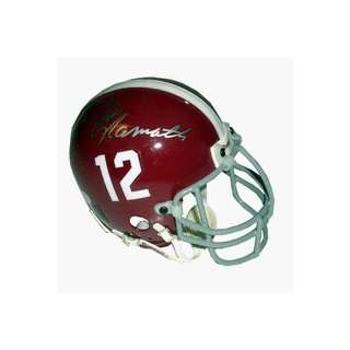 Joe Namath Autographed Alabama Crimson Tide Mini Football
