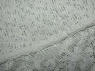 Renette Foundations Vtg White Lace Leg Thigh Girdle Shaper Union Label