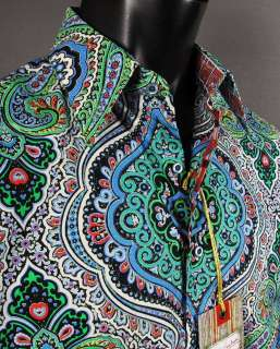 NWT Mens Button up Woven Robert Graham JOSEPH Sport Shirt in Multi