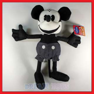 13 Disney Black and White Mickey Mouse Plush Doll/Toy