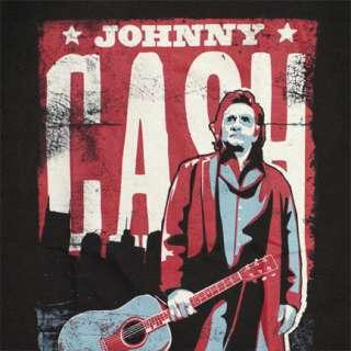 Johnny Cash Nashville Tennessee Poster Black Graphic Tee Shirt