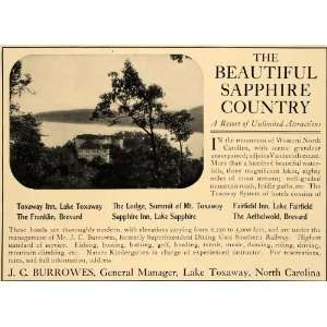 1905 Ad Sapphire Country Resort J Burrowes Lake Toxaway