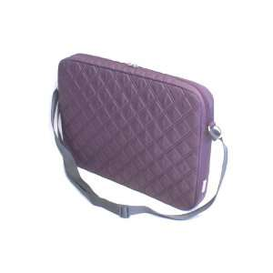 F8N295 091 16 Inch Plum Quilted Laptop Notebook Carrying Case Satchel