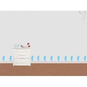 Wall Sticker Decal Seahorse  86 brillant blue Kitchen