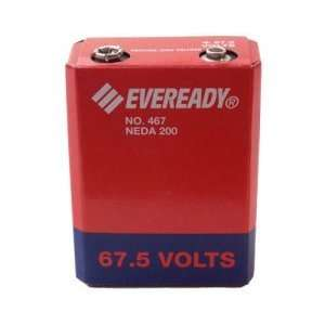 Eveready 467 Carbon Zinc 67.5V Battery NEDA 200 IEC 45F40: Electronics