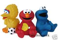 SESAME STREET ELMO Cookie Monster Figure Coin Bank x 3