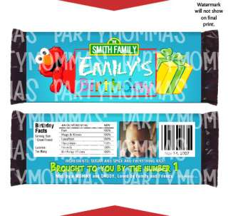 ELMO Birthday Party Favors CANDY WRAPPERS