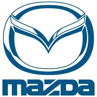 Mazda with Logo decal sticker CHOOSE SIZE / COLOR.