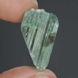 15.86ct Natural Mint Green Hiddenite Facet Crystal Gem, AFRICA