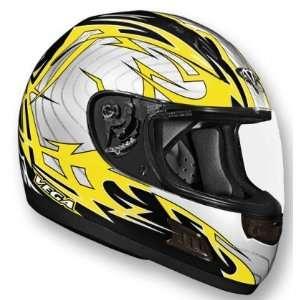 Vega Yellow Stryker Graphic Altura Full Face Helmet