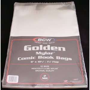 Golden Age Comic Book Mylar Bags 2 Mil, Pack of 50 Toys