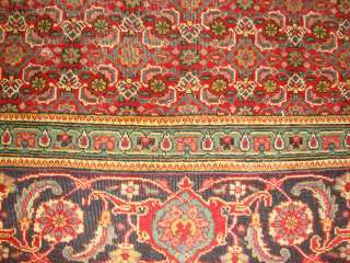 12 2 Red Blue Green Old Hand Made Persian Herati Oriental Rug