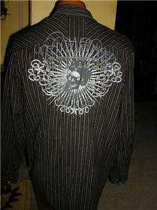 Mens sz XL MODERN CULTURE Western Shirt ROCKABILLY