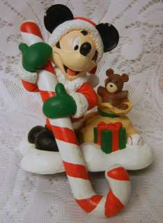 Disney MICKEY MOUSE SANTA TOYS STOCKING HANGER HOLDER BY SANTAS BEST
