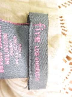 FIRE LOS ANGELES Floral Gathered Knit V Neck Dress Sz L
