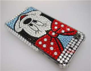 Minnie Mouse Bling Hard Case Cover For iPhone 4+ Mirror