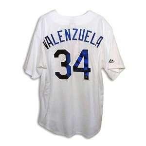 Fernando Valenzuela Signed Los Angeles Dodgers White