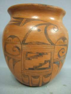 OLD Hopi Pottery Indian Vase Signed G. Pavatea Redware