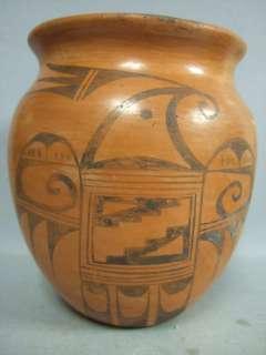 OLD Hopi Pottery Indian Vase Signed G. Pavatea Redware |