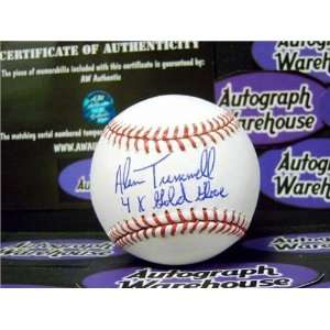 Alan Trammell Autographed/Hand Signed Baseball inscribed