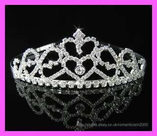 Wedding/Bridal crystal veil tiara headband CR126