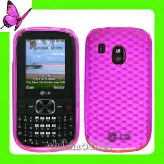 HOT PINK TPU Soft Gel Skin Case Cover 4 NET 10 LG 500G